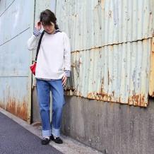 【inthegroove,】吊りミニ裏毛プルオーバー7分