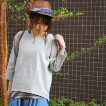 【FAINAI DECISION】20双糸空紡糸天竺プルオーバー