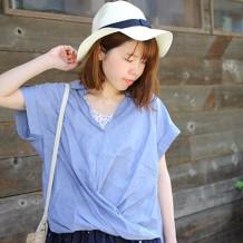 【inthegroove,】60ローンスキッパ―カシュクールシャツ