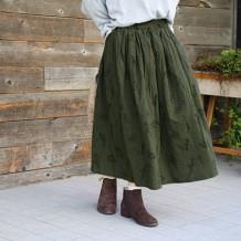 【SUN VALLEY】総柄起毛スカート