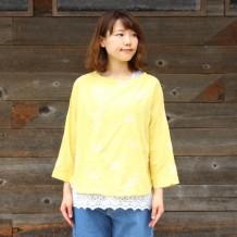 【シーズン】キャンブリック草花刺繍ワイドプルオーバー
