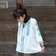 【inthegroove,ボイル刺繍ブラウス