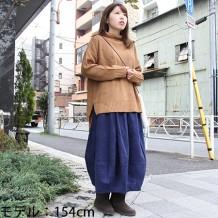 【ネット限定】アクリルウールワッフル柄タートルプルオーバー