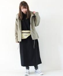 ツイルラグランフードジャケット