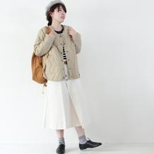 【inthegroove,】キルティングノーカラージャケット