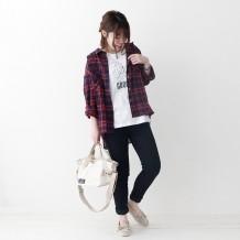 【inthegroove,】チェックWポケシャツ
