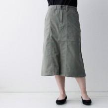【inthegroove,】コーデュロイ×ツイル切替スカート