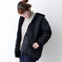 【inthegroove,】ナイロン中綿リバーシブルフードジャケット