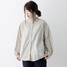 【inthegroove,】オックス製品染めバンドカラーシャツ