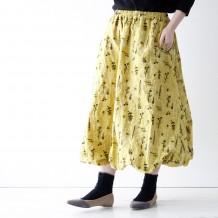 【inthegroove,】店舗限定シカクオハナ刺繍バルーンスカート