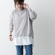【ネット限定】裾ドロストプルオーバー