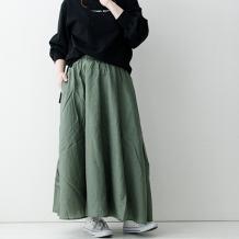 【inthegroove,】テンセル混ギャザースカート