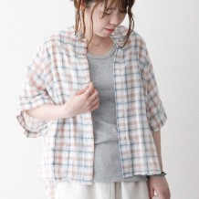 【inthegroove,】シアチェックマエアキポケシャツ