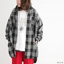 【in the groove,】フェイクウールチェックシャツジャケット